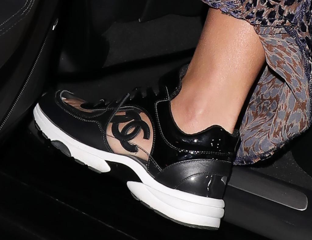 Chanel CC Logo White Transparent Sneaker