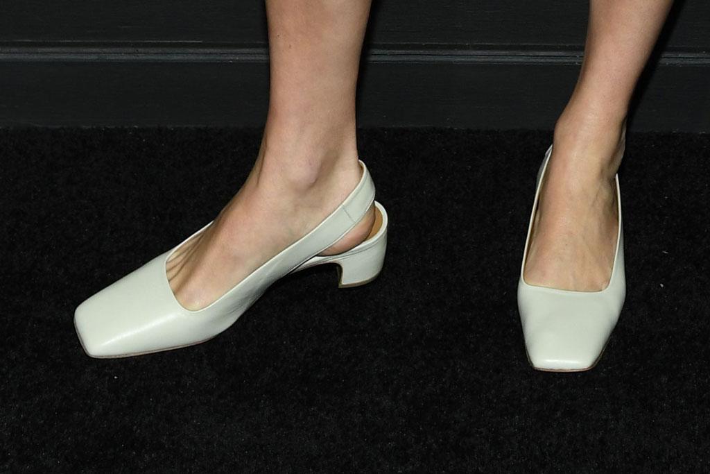 Chloë Sevigny , white slingback kitten heels