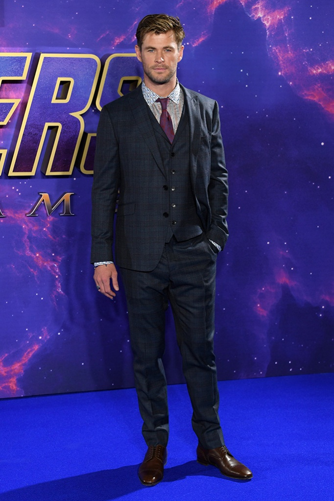 Chris Hemsworth'Avengers: Endgame' film fan event, London, UK - 10 Apr 2019 Wearing Etro