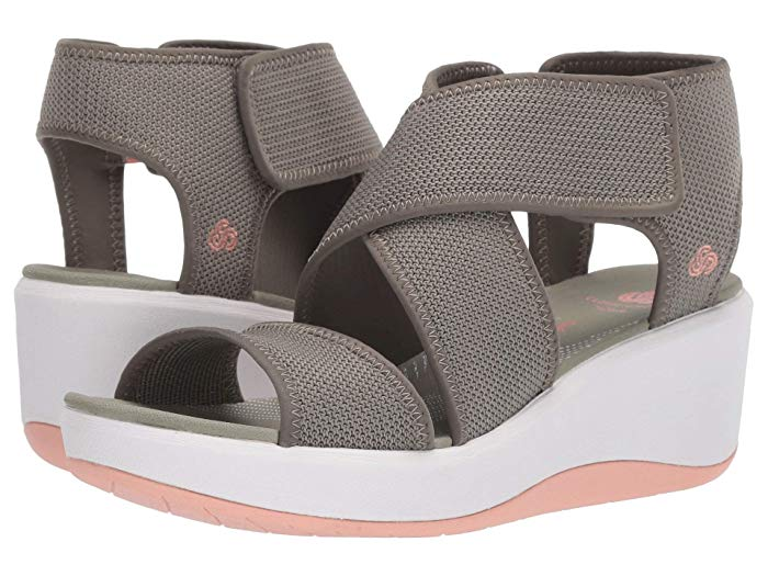 Clarks Step Cali Palm sandals.