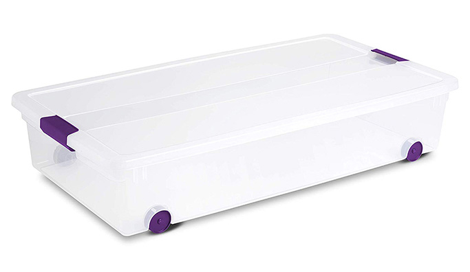 Sterilite 60 Quart/57 Liter ClearView Underbed Box