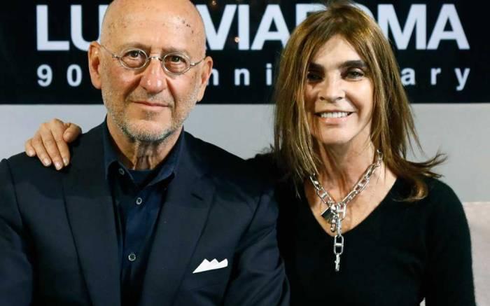 LuisaViaRoma CEO Andrea Panconesi and Carine Roitfeld