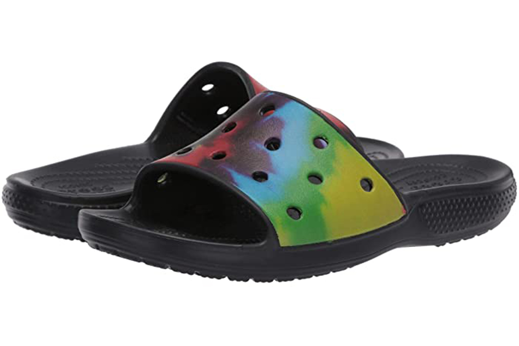 Crocs Classic Tie-Dye Graphic Slide, best recovery slides for men