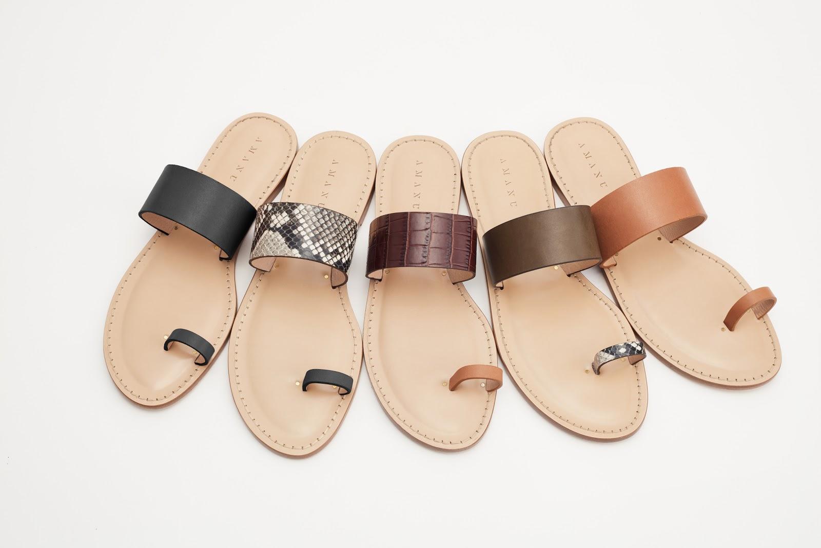 Cuyana x Amanu sandals