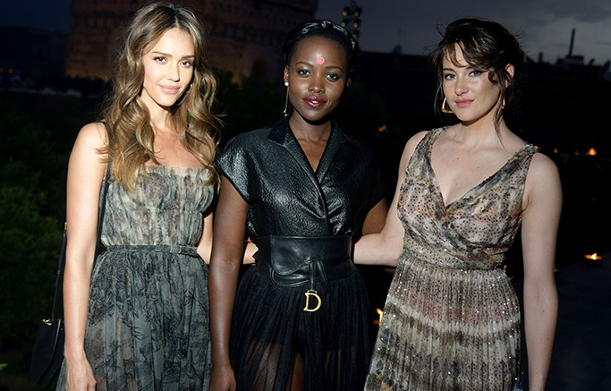 Jessica Alba, Lupita Nyong'o and Shailene Woodley in the front rowDior Cruise 2020 show, Front Row, Palais El Badi, Marrakech, Morocco - 29 Apr 2019