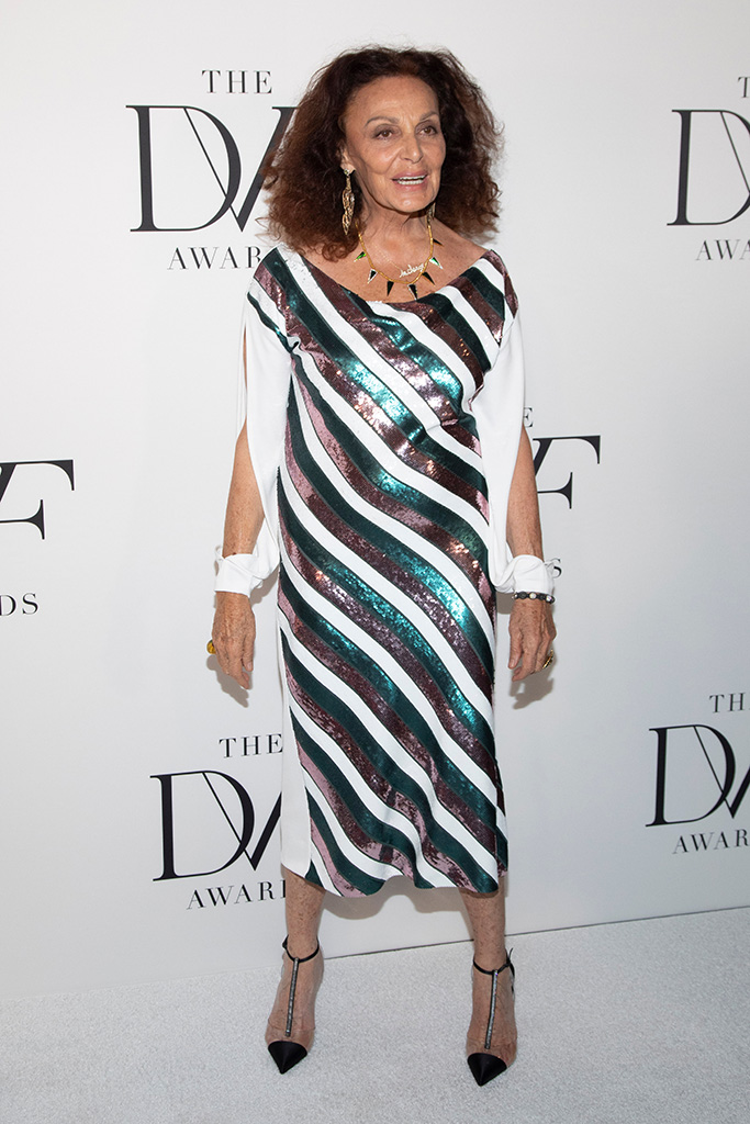 Diane von Furstenberg attends the 10th annual DVF Awards at the Brooklyn Museum, in New York10th Annual DVF Awards, New York, USA - 11 Apr 2019