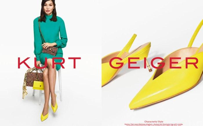 Gemma Chan, Kurt Geiger, campaign