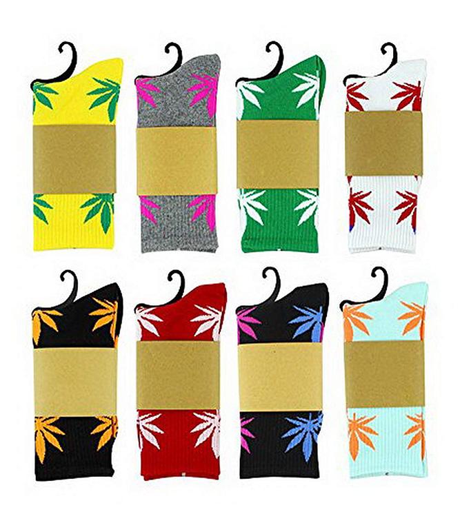 Get u Back Marijuana Unisex Weed Leaf Socks