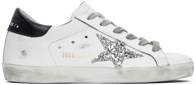 golden-goose black and white superstar sneakers, best white sneakers with dresses