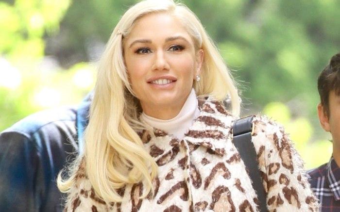 Gwen Stefani, animal print, church style, celebrity fashion, easter sunday