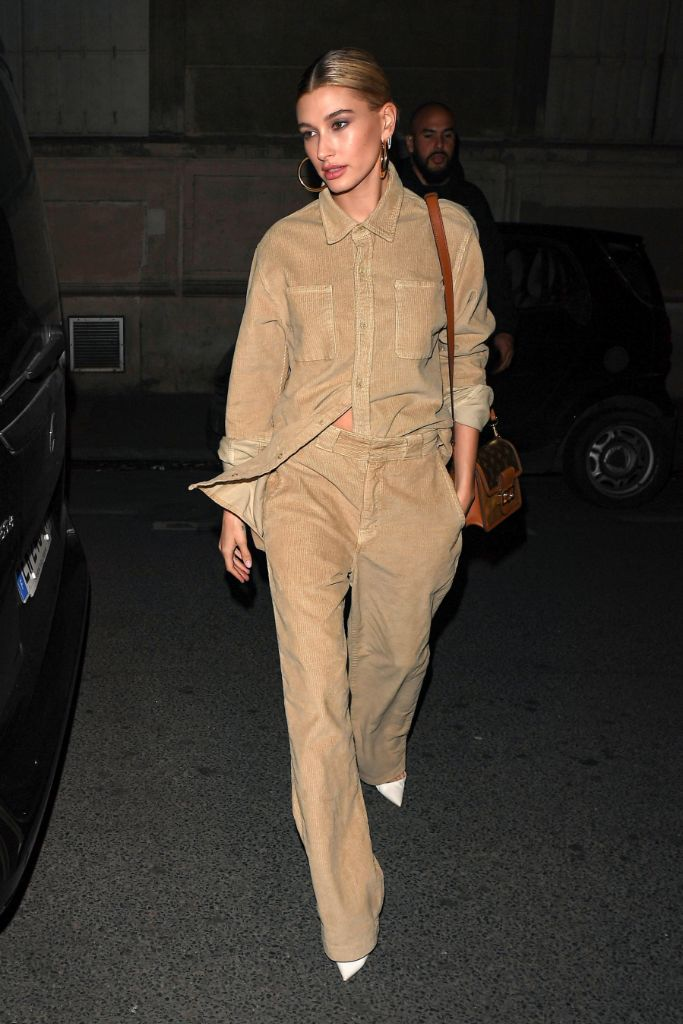 hailey, baldwin, justin, bieber, canadian, tuxedo, drew, house, paris, fashion, week