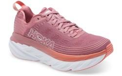 hoka one one, sneakers, pink