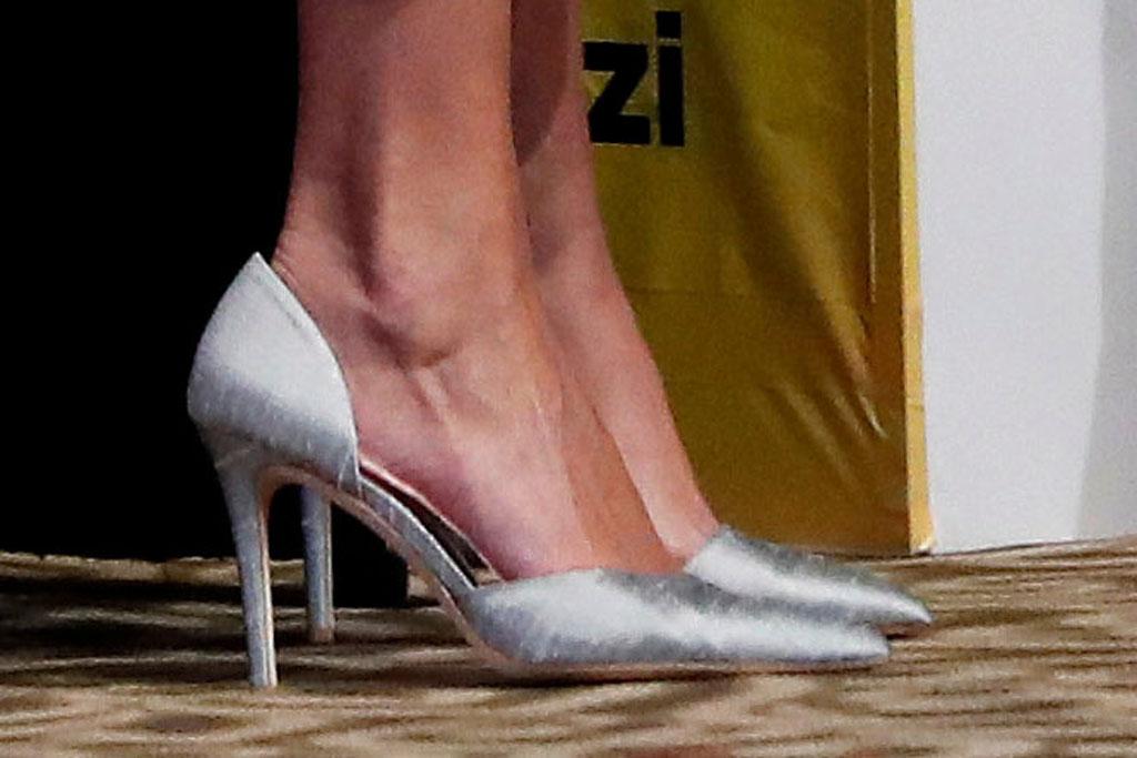 ivanka trump, pale blue pumps, high heels, celebrity style, africa, ivory coast