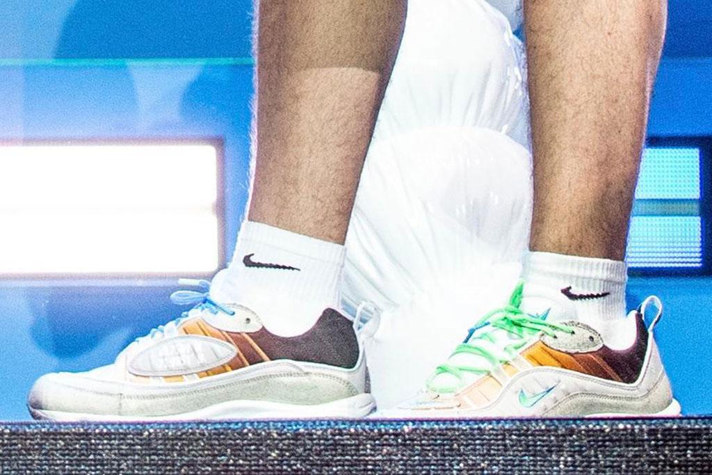 """Nike Air Max 98 """"La Mezcla"""", j balvin, gabriella serrano, celebrity style, coachella, sneakerhead"""