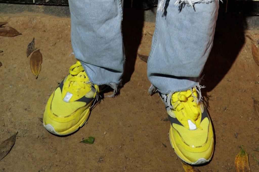 jaden smith, coachella, levi's brunch, new balance sneakers, highlighter yellow