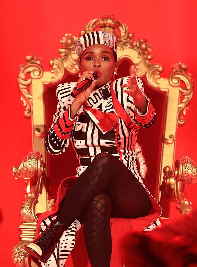 Janelle Monae, chanel boots, Coachella Valley Music and Arts Festival, Weekend 1, Day 1, Indio, USA - 12 Apr 2019