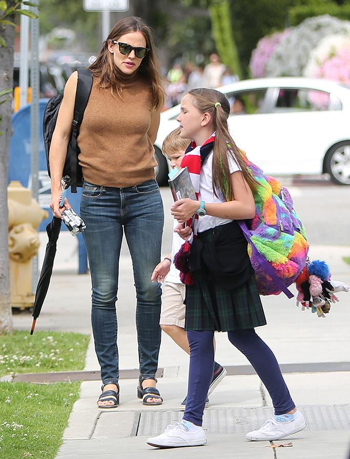 Jennifer Garner, chanel shoes, celebrity style, Seraphina Affleck and Samuel AffleckJennifer Garner out and about, Los Angeles, USA - 08 Apr 2019