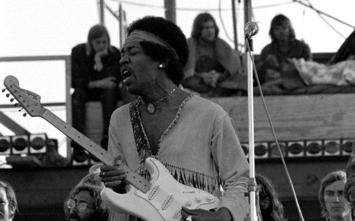 Jimi Hendrix, woodstock, august 1969