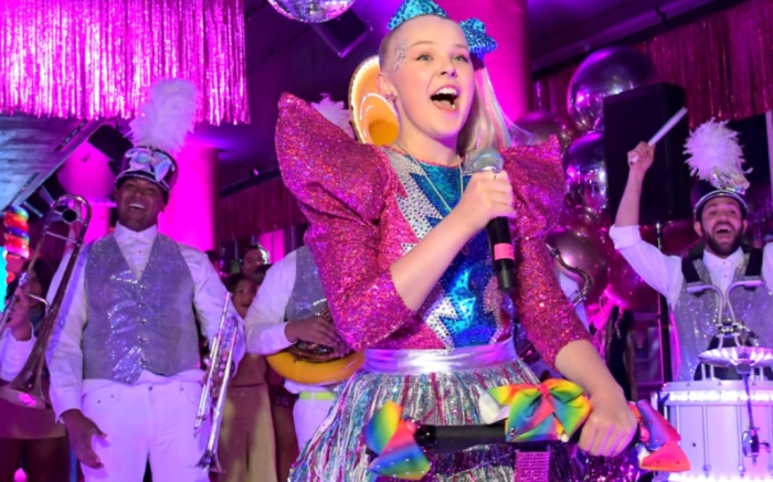 HOLLYWOOD, CALIFORNIA - APRIL 09: Nickelodeons JoJo Siwa  celebrated her Dream Birthday with an epic party at the W Hotel in Hollywood, CA. The event will be part of a Nickelodeon special entitled JoJos Dream Birthday, set to air on Saturday, May 18, at 8:00 p.m. (Photo by Charley Gallay/Getty Images for Nickelodeon)