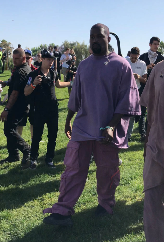 kanye west, yeezy, coachella, celebrity style, sunday service