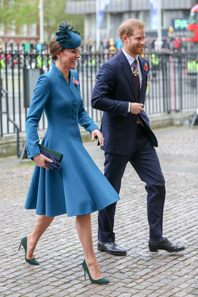 Catherine Duchess of Cambridge and Prince HarryAnzac Day Service, Westminster Abbey, London, UK - 25 Apr 2019