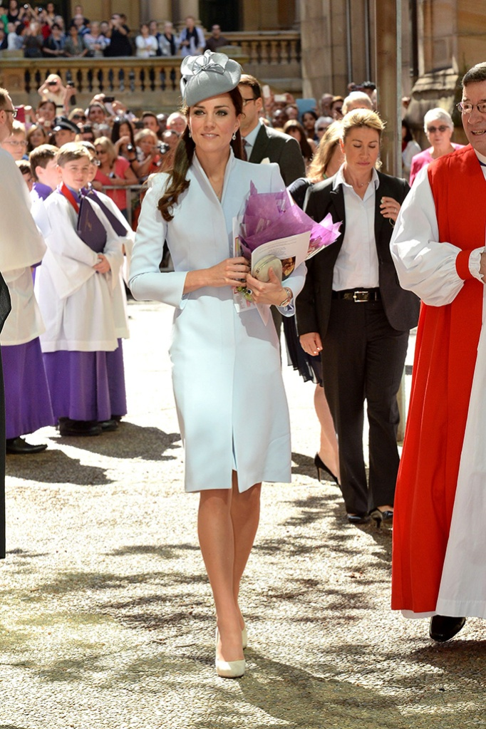 Catherine Duchess of CambridgePrince William and Catherine Duchess of Cambridge attend Easter Service at St Andrews Cathedral, Sydney, Australia - 20 Apr 2014 WEARING ALEXANDER MCQUEEN