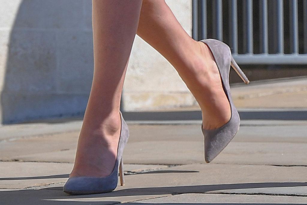 kate middleton, emmy london gray pumps, celebrity royal style, easter sunday services