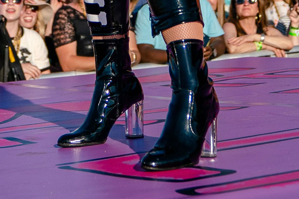 katy perry, new orleans, music festival, ankle boots
