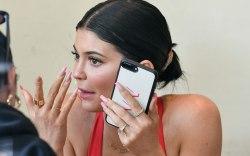 Kylie Jenner, celebrity style, red bodysuit,