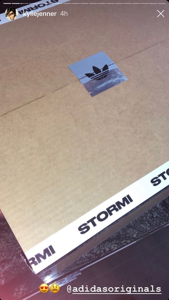 Adidas, Kylie Jenner, unboxing, adidas, Stormi Webster