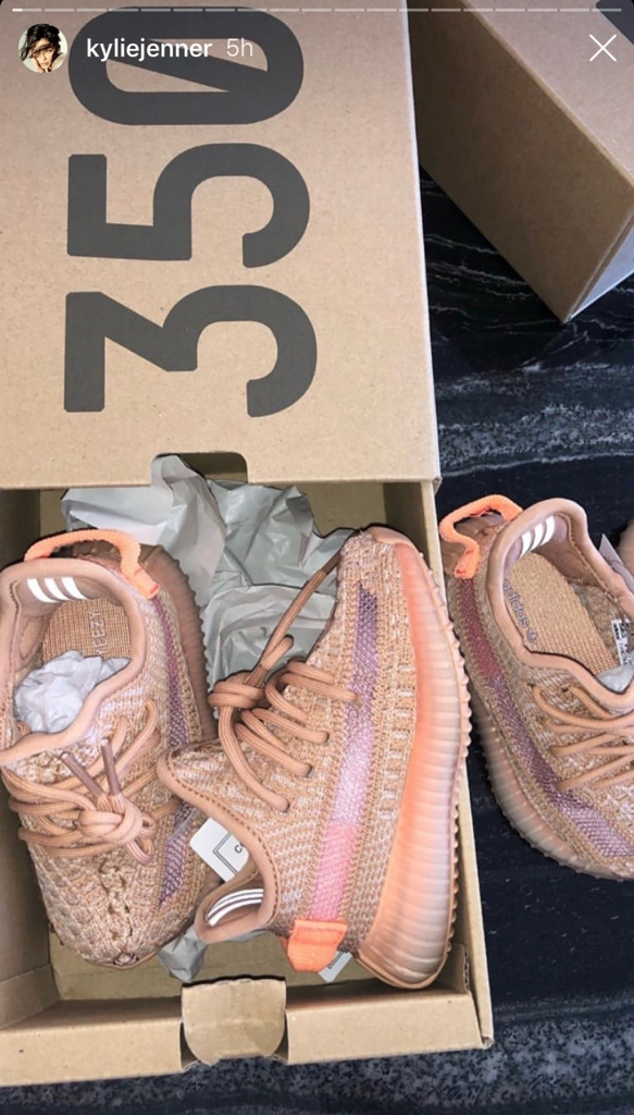 Kylie Jenner, unboxing, adidas, Stormi Webster, Yeezy Boosts 350