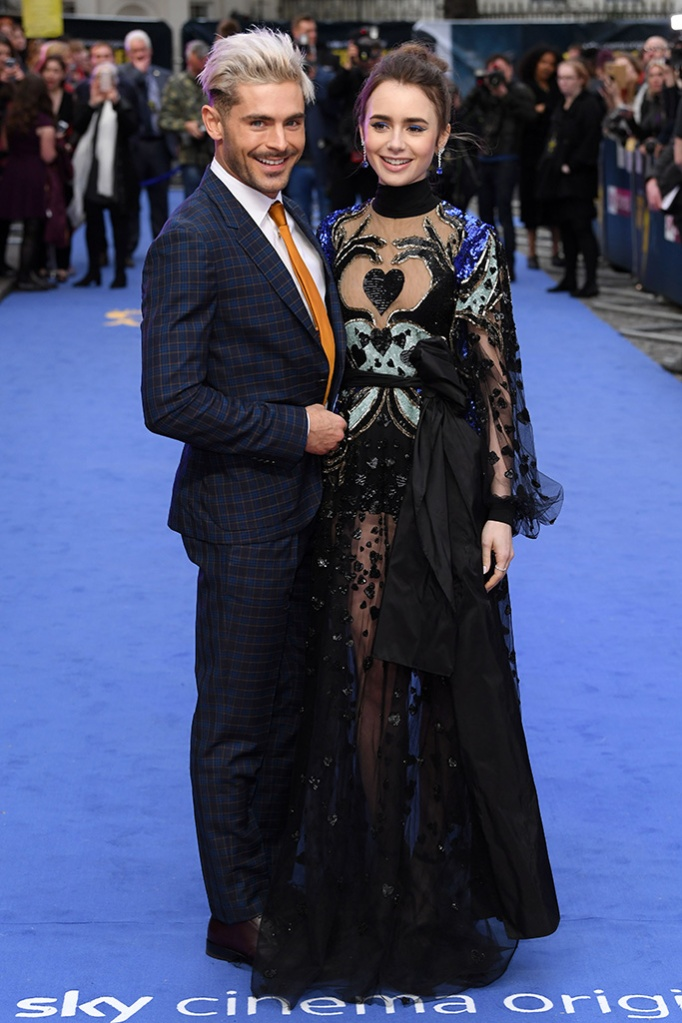 Zac Efron and Lily Collins'Extremely Wicked, Shockingly Evil and Vile' film premiere, London, UK - 24 Apr 2019