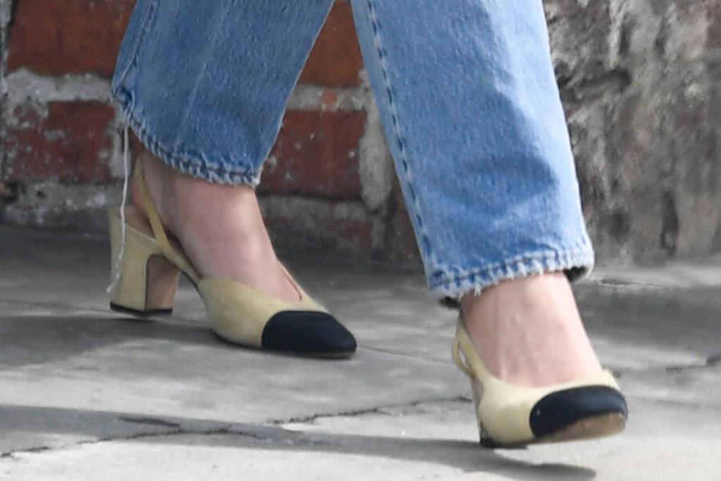 Lily-Rose Depp, celebrity style, chanel, slingback pumps, fashion