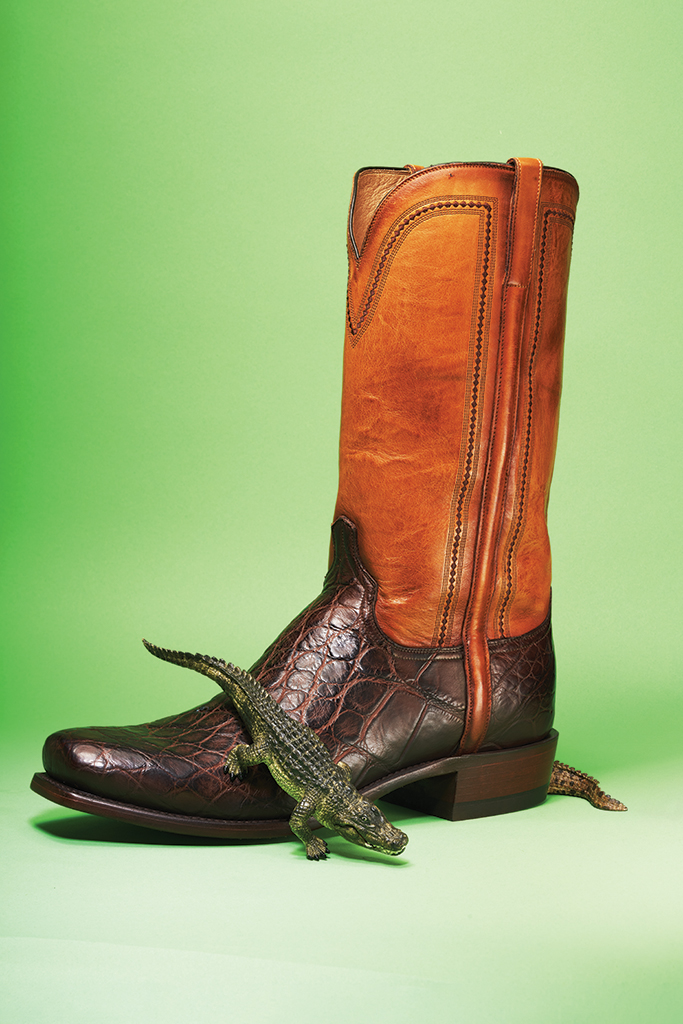 Lucchese, Western boot, aligator boot, brown boot, cowboy boot