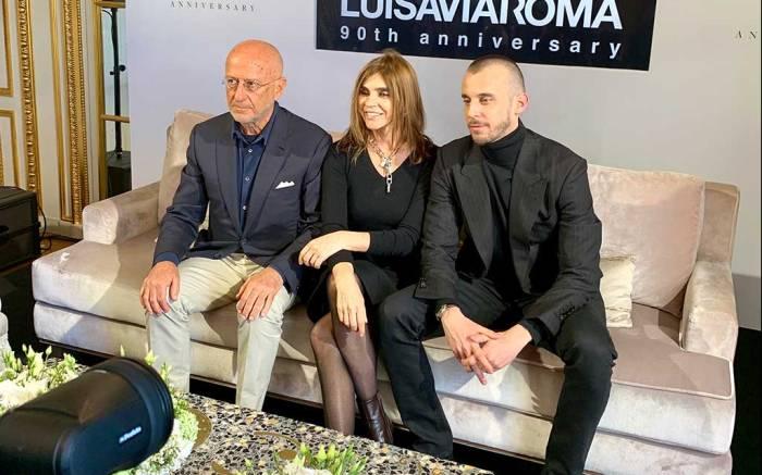 L-R: Andrea Panconesi, Carine Roitfeld, Vladimir Restoin-Roitfeld.