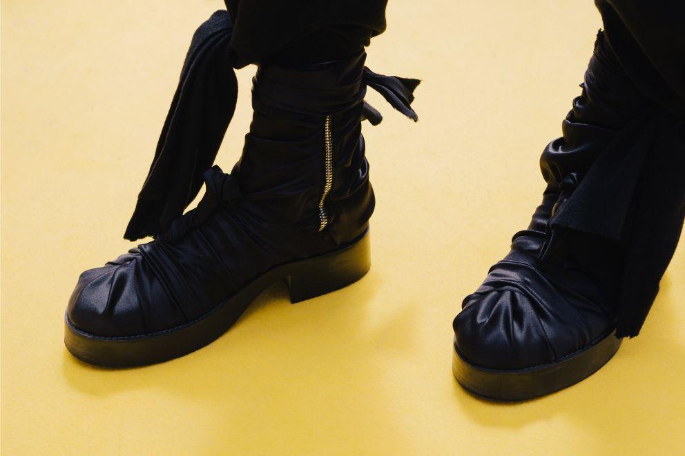 Christoph Rumpf's Massaro shoe on the Hyeres runway, FIAMH 2019, chanel, shoe