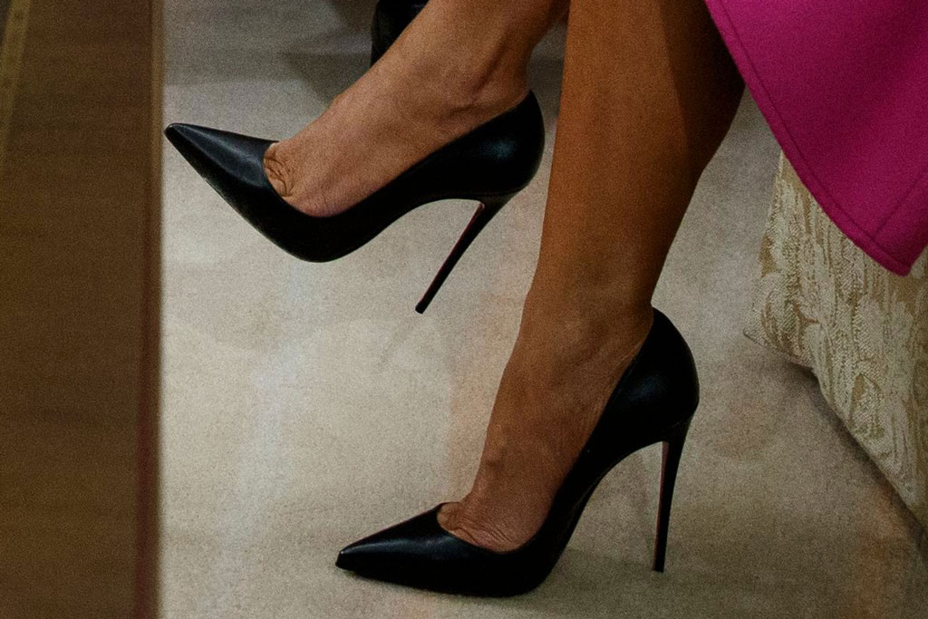 melania trump, shoes, christian louboutin so kate pumps, celebrity style, footwear