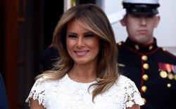 Melania Trump, celebrity style, white lace