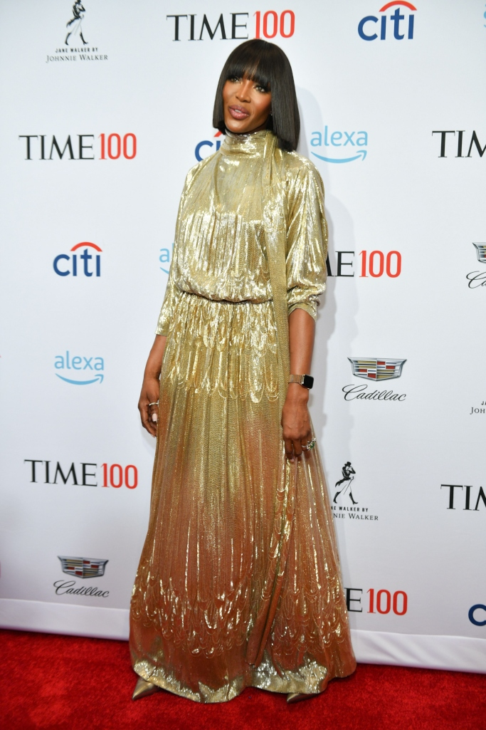 naomi campbell, valentino couture fall 2018, time 100 gala