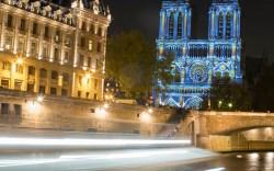 A light projection dubbed 'Dame de