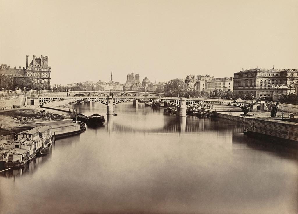 Seine River Looking Toward Notre Dame, Paris, France, Silver Albumen Print, Edouard Baldus, 1860'sVARIOUS