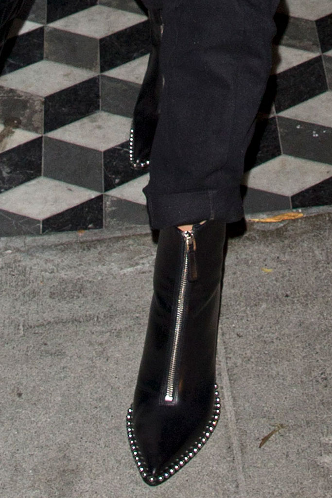 Olivia Culpo, alexander wang, ankle boots, celebrity style, los angeles