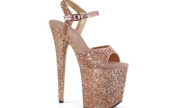 stripper shoes, Pleaser Flamingo sandal, glitter