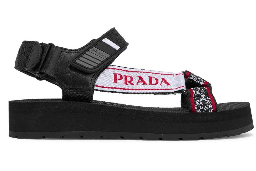prada, chunky sandals