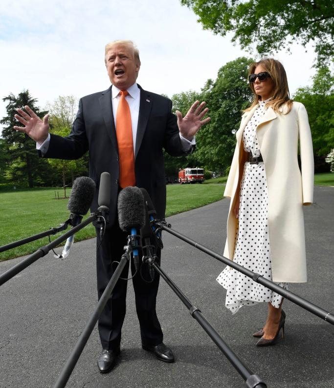 president donald trump, melania trump