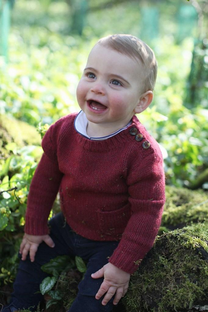 prince louis, kate middleton, celebrity style , british royal family, prince william, first birthday, norfolk, england,