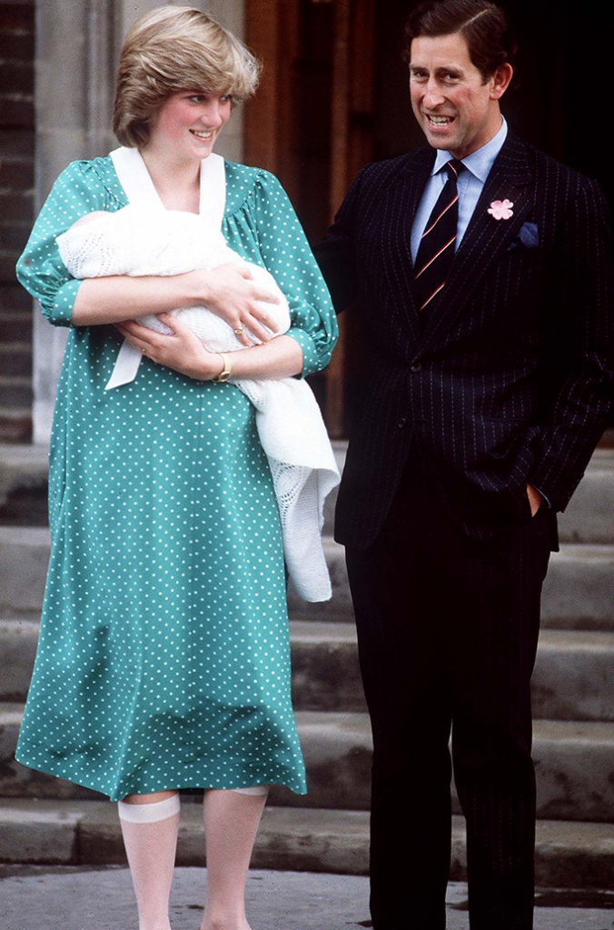 Prince Charles and Princess Diana leaving Saint Mary's Hospital after the birth of their first baby son Prince WilliamBirth of Prince William, Lindo Wing, St Mary's Hospital, London, UK - 1982