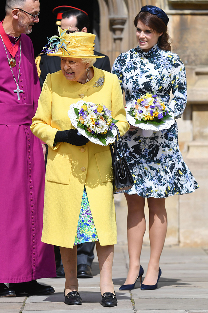 Princess Eugenie and Queen Elizabeth IIRoyal Maundy Service, St George's Chapel, Windsor, Berkshire, UK - 18 Apr 2019