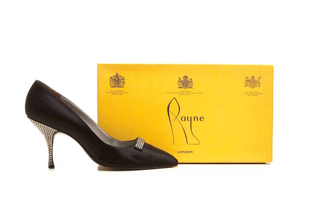 A pair of vintage Rayne shoes with the original box.
