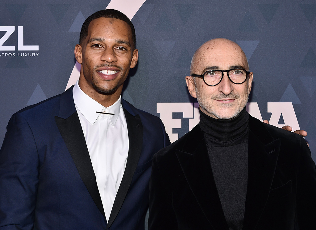 Victor Cruz and Pierre Hardy 32nd Annual Footwear News Achievement Awards, Arrivals, New York, USA - 04 Dec 2018